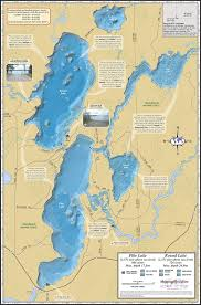 Wisconsin Dnr Lake Maps by Pike U0026 Round Lakes Chain Fold Map
