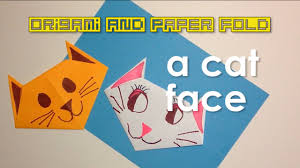paper fold simple and easy cat face for kids toy and paper