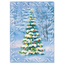 snowy christmas pictures snowy tree religious christmas cards current catalog