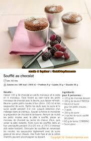 recette de cuisine soufflet de choco a imprimer gratuitement
