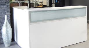 Glass Reception Desk Great Photo Buy White Desk Around Cheap Reception Desk Delicate