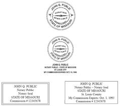 missouri notary handbook general information