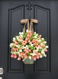 spring door wreaths tulips farmhouse door wreaths tulips mother s day wreath