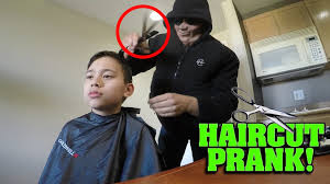 spirit halloween little rock scary haircut prank gone wrong youtube