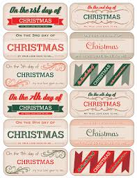 12 days of christmas tag downloads november december 2012