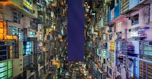 looking up in hong kong the overwhelming symmetry of this