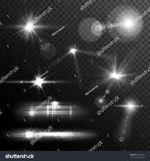 and glow realistic lens flares lights glow stock vector 281605787