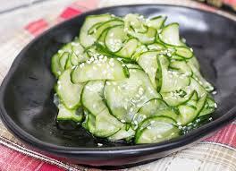 recette cuisine japonaise facile la recette facile de salade de concombre à la japonaise