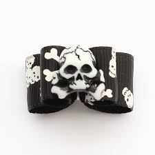 skull ribbon online shop armi store handmade skull ribbon dog bow