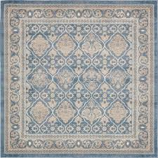Area Rug Square Light Blue 8 X 8 Vienna Square Rug Area Rugs Esalerugs