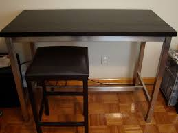 furniture small kitchen island table with black wooden ladder