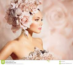 flower hair model girl with flowers hair royalty free stock photos image
