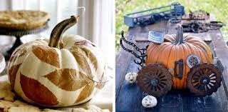Pumpkin Decorating Without Carving Fast Autumn Decoration With Pumpkins Without Carving Ideas