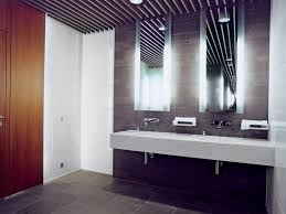 Above Vanity Lighting Lighting For Bathroom Vanities Dark Brown Finish Varnished Wooden