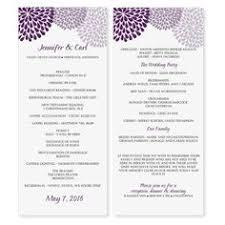purple wedding programs wedding program templates free weddingclipart wedding