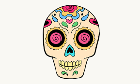 draw sugar skull step step tutorial easy drawing