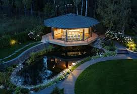 Backyards With Gazebos by Spectacular Gazebo Design With Glass Floor In Dining Area