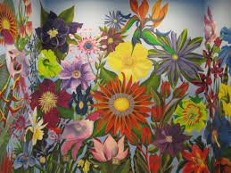 Garden Mural Ideas Flower Mural 28 Images Surfaces With Paint Flower Garden