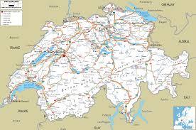 Printable Map Of Europe by Printable Switzerland Road Map Swiss Transport Map Switzerland