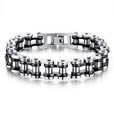 stainless steel chain bracelet images Cool stainless steel men 39 s biker chain bracelet project yourself jpg