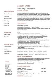 resume exles marketing marketing coordinator resume sales exle sle advertising