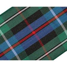 mackenzie rose 70mm scottish tartan plaid ribbon x 5m pack