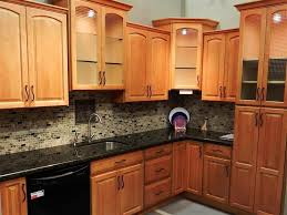 Kitchen Color Design Ideas by Patterned Backsplash Ideas Light Wood Cabinets Simple With New In