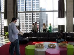 interior design and architecture students visit eskew dumez ripple