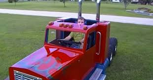 kenworth build and price lucky kid driving his own mini kenworth truck overpowerd