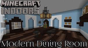 modern dining room in blue minecraft indoors interior design