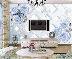 rose flower wall paper promotion shop for promotional rose flower blue rose flower wallpaper abstract wall paper mural for living room floral wallcoverings papier peint mural 3d papel de parede