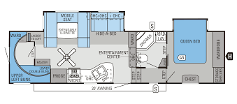 fifth wheel bunkhouse floor plans 2014 eagle fifth wheels