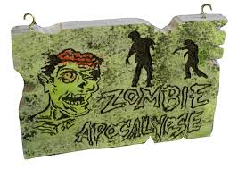 cute just 20 zombie apocalypse sign hand carved foam halloween
