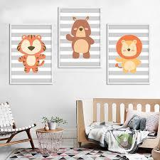 tableau déco chambre bébé décoration poster toile ours déco chambre enfant bébé trendisy