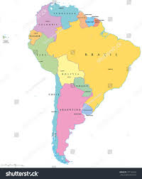 south america map with country names and capitals map of south america nations project with labeled