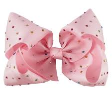 large ribbon large ribbon bow jojo inspired rainbow gems princess miyah designs