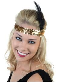 gold headbands gold and black flapper headband costumes
