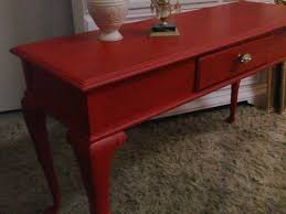 Painted Console Table Painted Console Table In Red U2013 Painted Furniture Fredericksburg Va