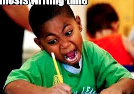 Meme African Kid - african kid writing meme thesis