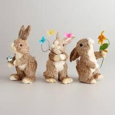 cost plus world market natural fiber spring bunnies
