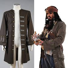 pirates of the caribbean jack sparrow cosplay costume