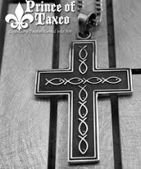 unique cross silver necklace unisex or mens by kristianjessie