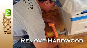 remove hardwood floors under cabinets u0026 baseboards youtube