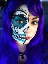 half face halloween makeup ideas halloween makeup ideas pretty in pigment