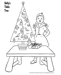 Kids Coloring Table Christmas Tree Coloring Pages Christmas Table Tree Coloring