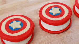 captain america ice cream sandwiches nerdy nummies youtube