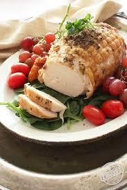 boneless turkey herb crusted turkey roast for one one dish kitchen