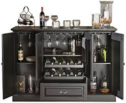 Black Bar Cabinet American Heritage Carlotta Wine Bar In Antique Black
