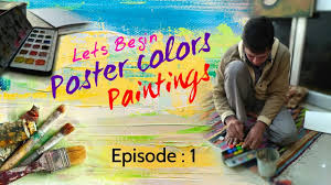 how to make poster color paintings youtube