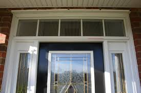 nice treatments to front door with sidelights wood furniture